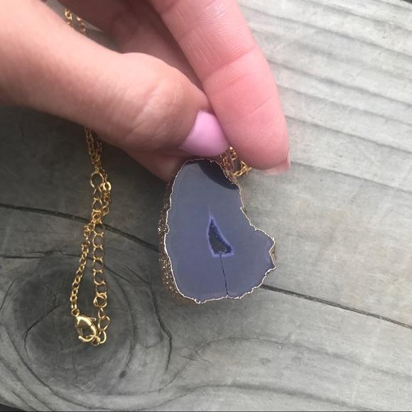 Jewelry - NEW ♡ Geode Slice Necklace